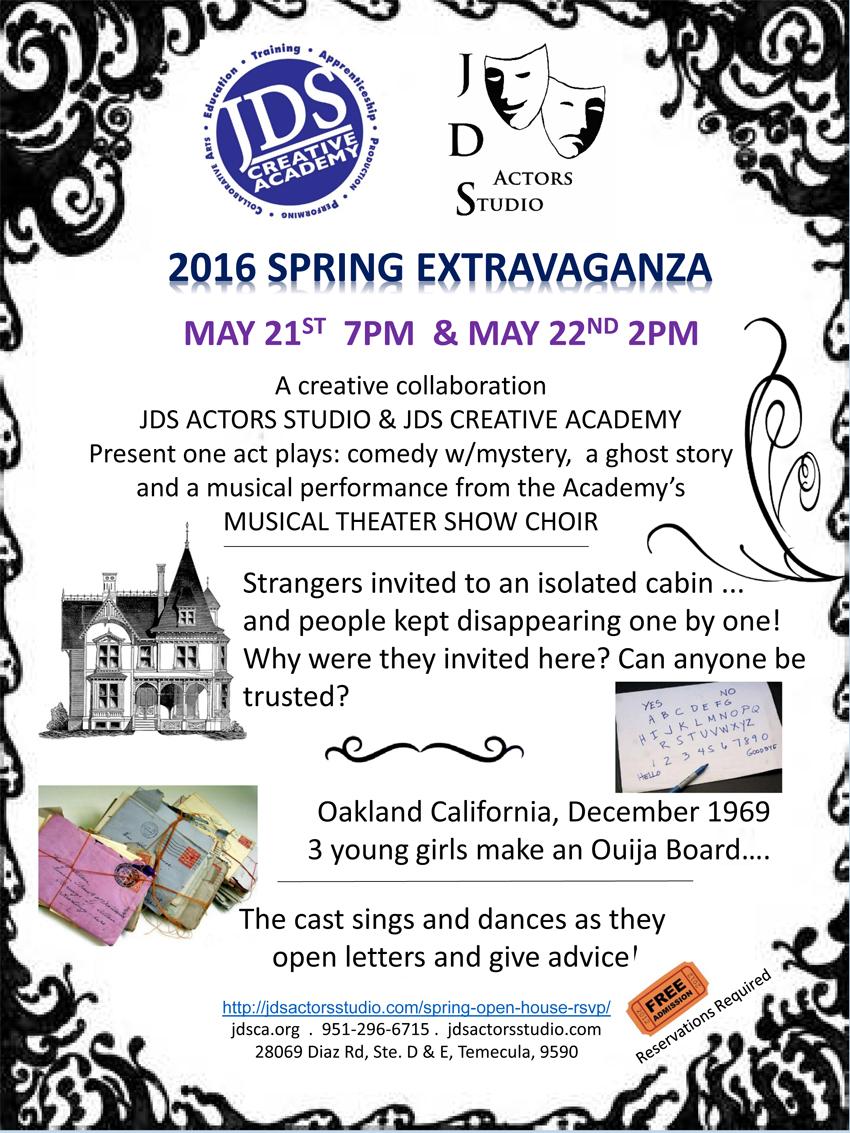 JDSCA Artist Experience April 2016 Event