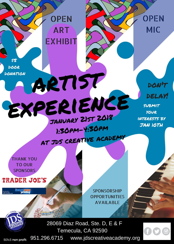 JDSCA 2018 Artist Experience