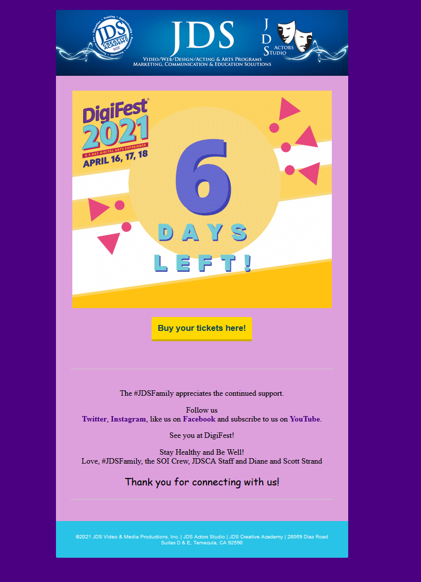 Have you bought your DigiFest tickets yet!?