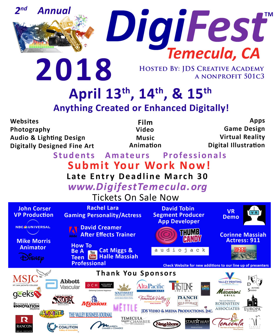 Digifest 2018 Flyer Speakers
