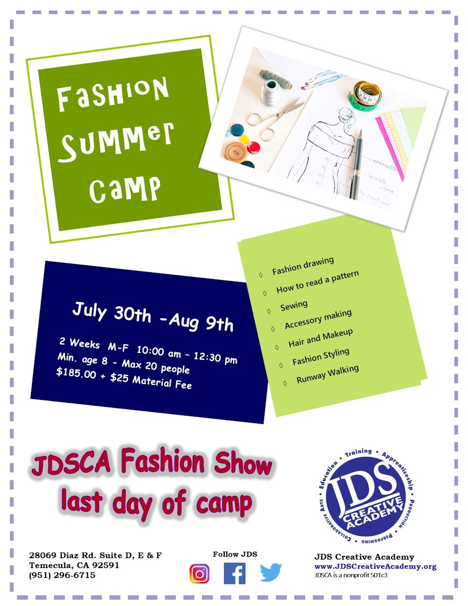 JDSCA Fashion Camp 2018