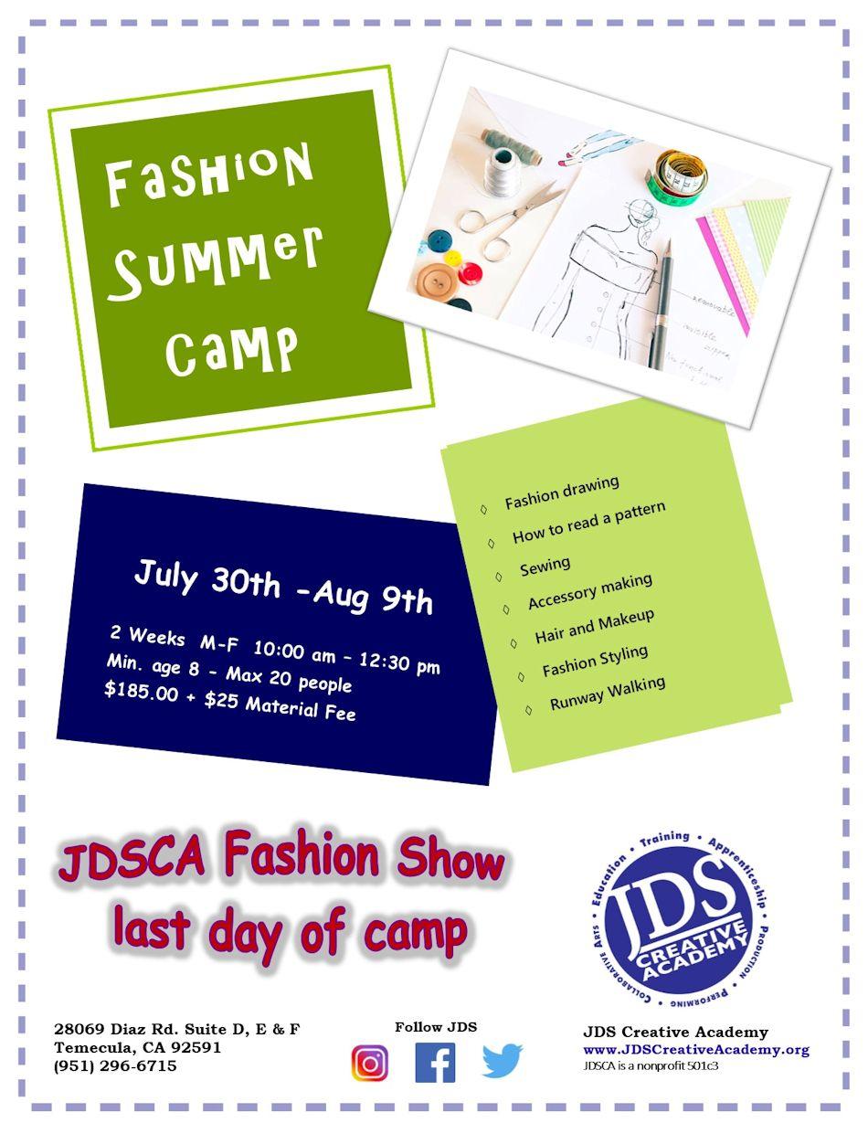 JDSCA Fashion Camp 2018