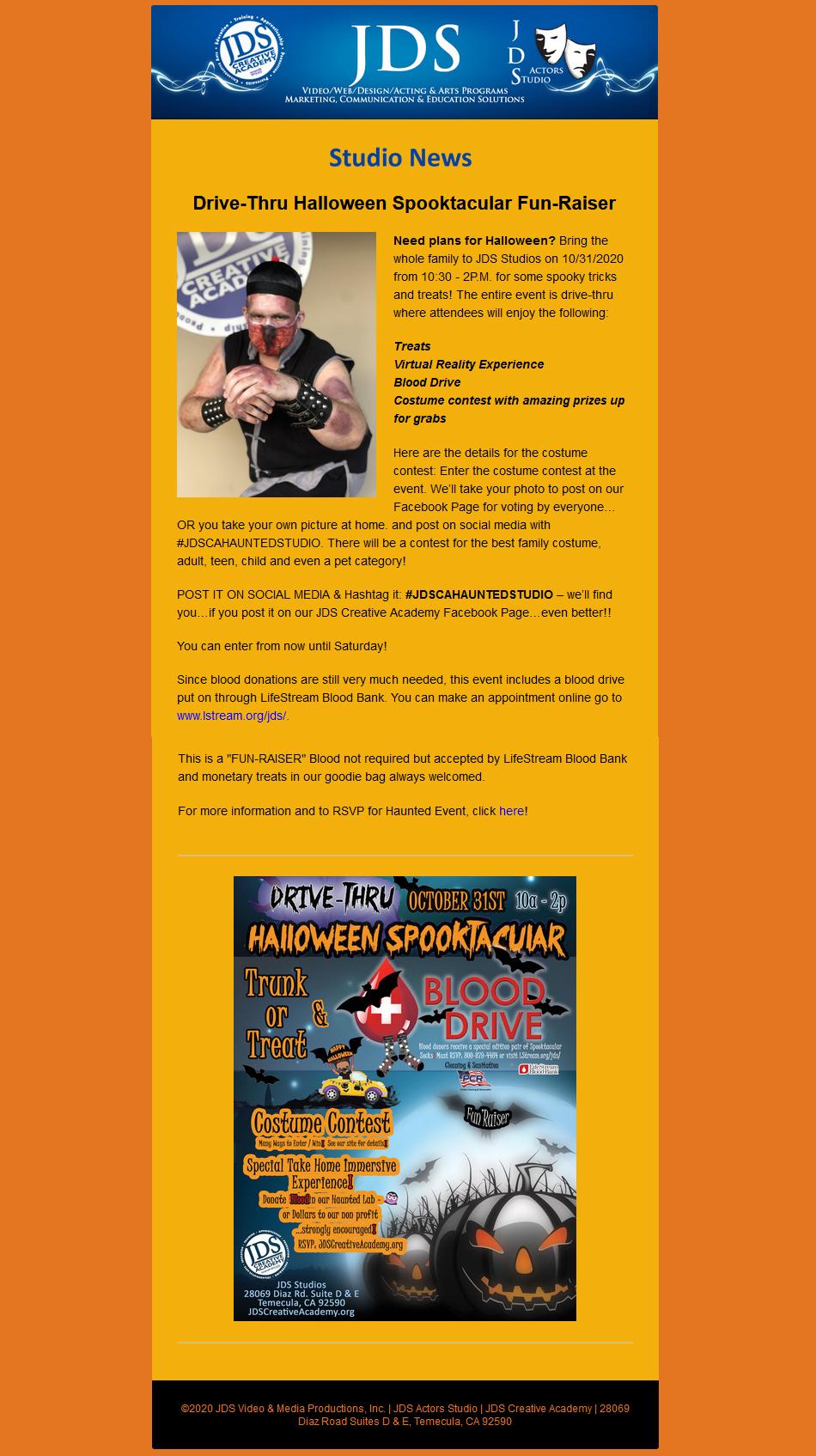 JDS Studio News Halloween Spooktacular Costume Contest