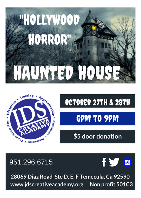 JDSCA Haunted House Fundraiser