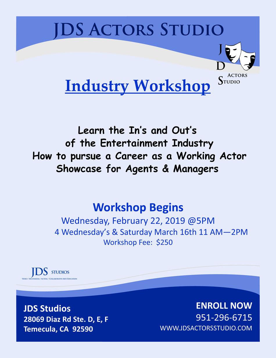 JDS Actors Studio Industry Workshop