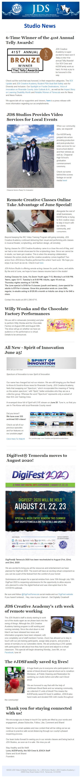 JDS Studio June News