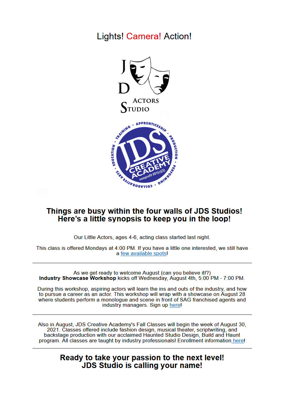 JDS Studio Update