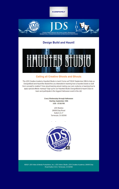 JDSCA Haunted Studio