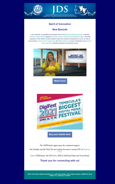 Spirit of Innovation March 2021 Episode & DigiFest Tickets