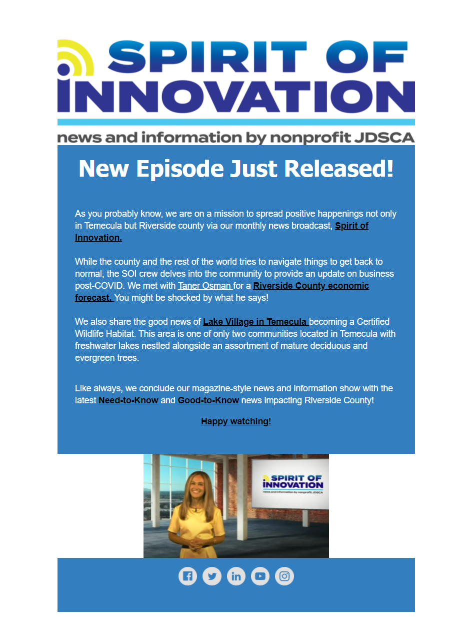 Spirit of Innovation new episode