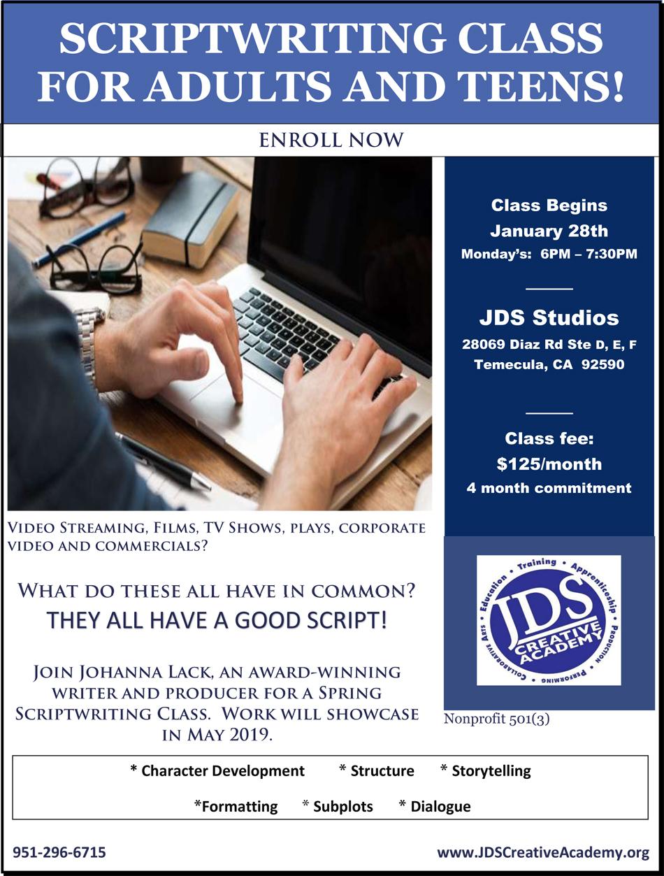 JDSCA Script Writing 2019