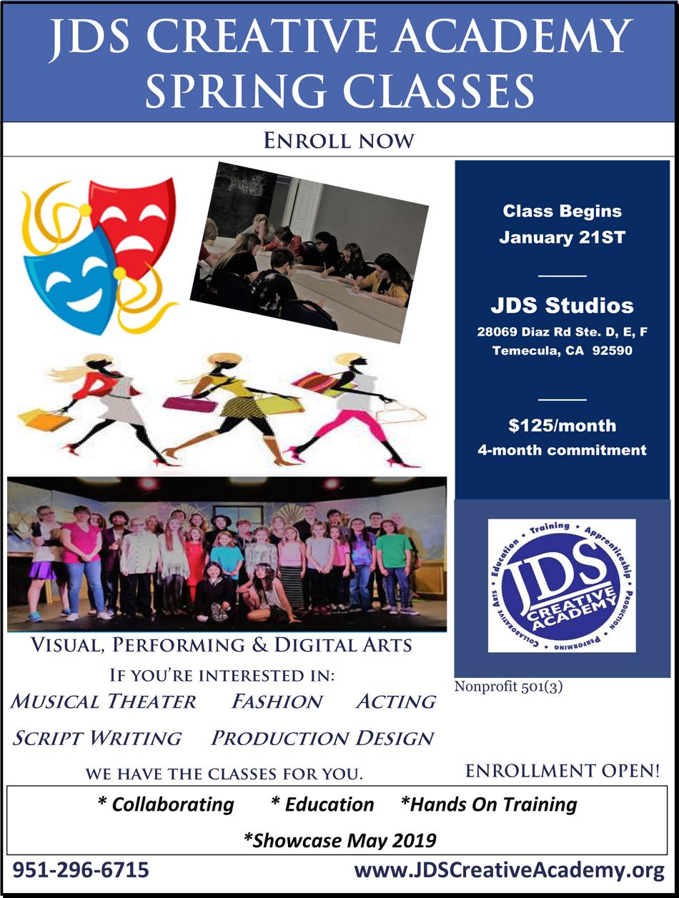 JDSCA Spring Classes