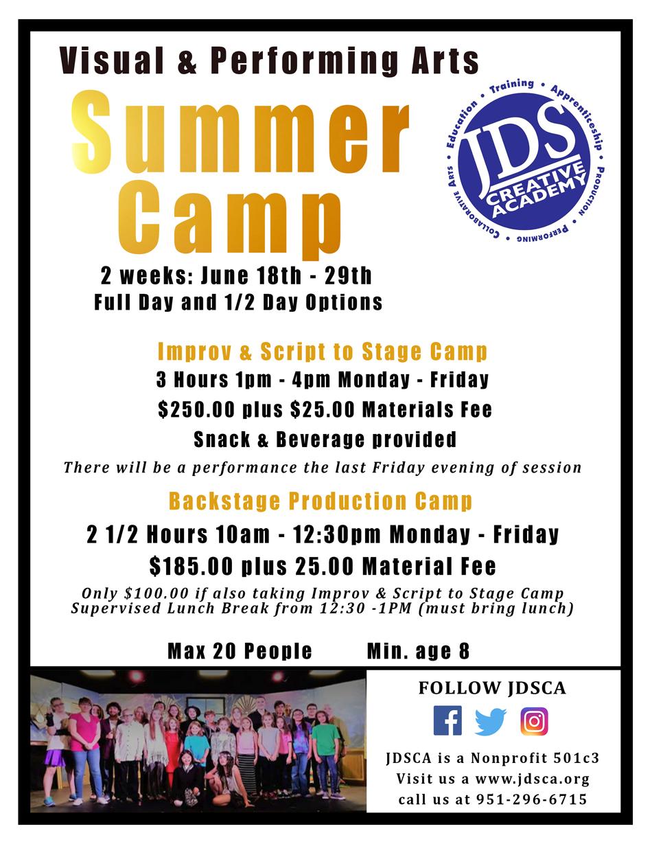 JDSCA Summer Camps 2018