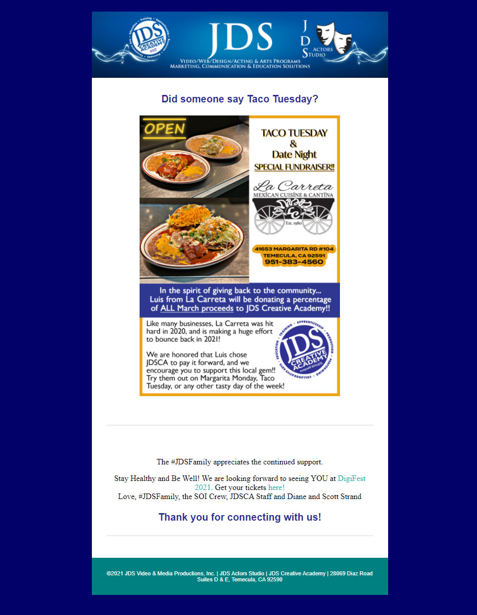 Taco Tuesday All For A GREAT Cause