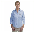 Red House Ladies 3/4-Sleeve Non-Iron Pinpoint Oxford