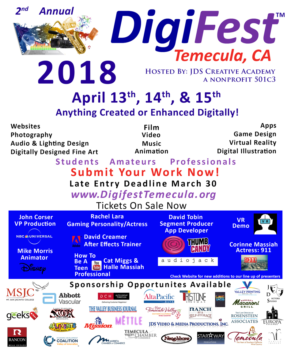 Digifest 2018 Flyer Speakers