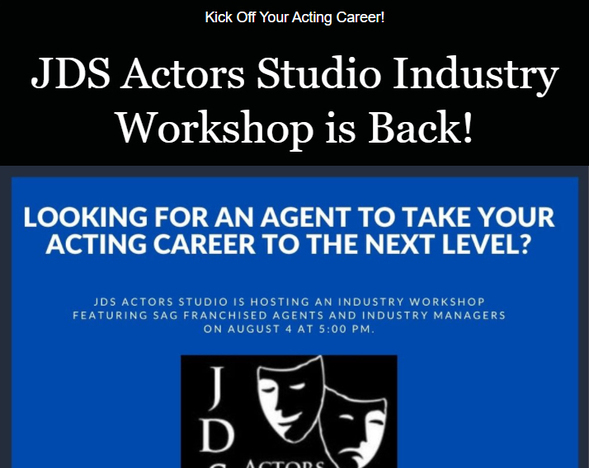 Kick Off Your Acting Career!